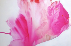 "LAUREL HOLLOMAN ""Mukti"" - 48x72 - Acrylic on Linen 2012"